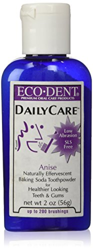 Eco-Dent Daily Care Baking Soda Toothpowder, Anise, 2 oz (56 g)