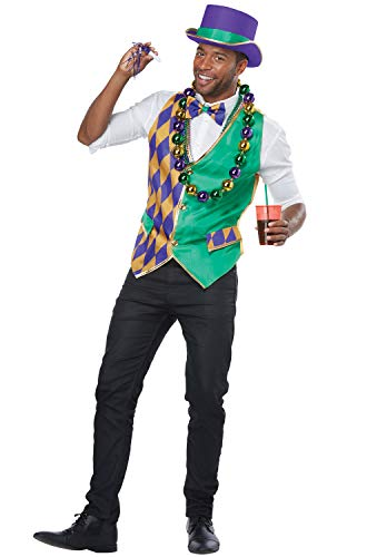 California Costumes Men's Mardi Gras Vest Kit-Adult Man, Multi, Large/Extra Large