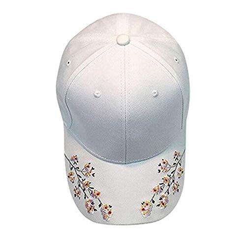 Nearzstorn Baseball Hat,Women Embroidered Baseball Cap New Summer Snapback Caps Hip Hop Hats 2019 (White) ()