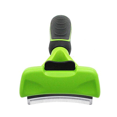 BB67 Deshedding Tool with Self Cleaning Curved Comb Blade, for Dogs and Cats -Sturdy and Ergonomic Handle