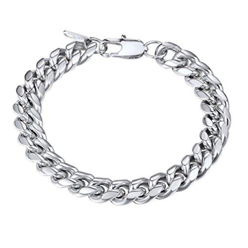 PROSTEEL Stainless Steel Bracelet Chunky Cuban Link Chain,Pulseira Masculina,Unisex Women Men Jewelry Friendship Gift Bracelet