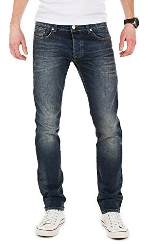 085 Vaqueros Para Jeans Denim Hombre Rick Blue Azul WOTEGA Pantalones wzq5xI