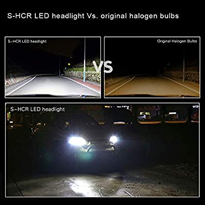 Alla Lighting S-HCR 9003 H4 LED Headlights Bulbs 10000Lm Xtreme Super Bright 6000kK~6500K Xenon White HB2 Hi/Lo Beam Conversion Kits Replacement for Cars, Motorcycles: Automotive