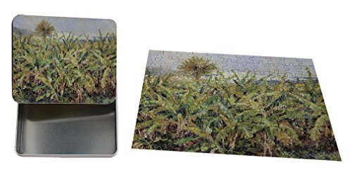 Banana Metal Tree (Field Of Banana Trees (Renoir) Metal Tin Trinket Box (4