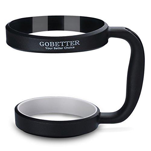 GoBetter Handle for 30 Oz YETI Rambler - Easy Grip Anti-Shake & Anti-Slip Car Cup Holder - Fits RTIC Tumbler, SIC Cups, Ozark Trail and Most 30 ounces Travel Mugs (Black)