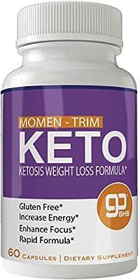 Momentrim Keto Weight Loss Pills, Advanced Momen Trim Natural Ketogenic BHB Burn Fat Supplement, 800 mg Formula with New True Slim GO BHB Salts Formula, Advanced Appetite Suppressant Capsules ...