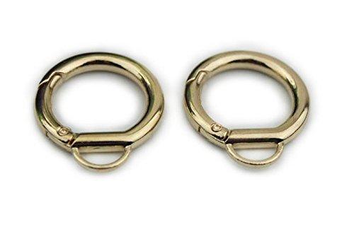(Bobeey 5pcs 7/16'' Light Gold Jewelry Clasps,O Ring Purses Clasps,Purse O Ring Lobster clasp,purses hooks,Sturdy Snap Clasps BBC18 (E,Light)