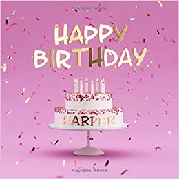 Happy Birthday Harper Pink Guest Book For Kids Birthday Party With