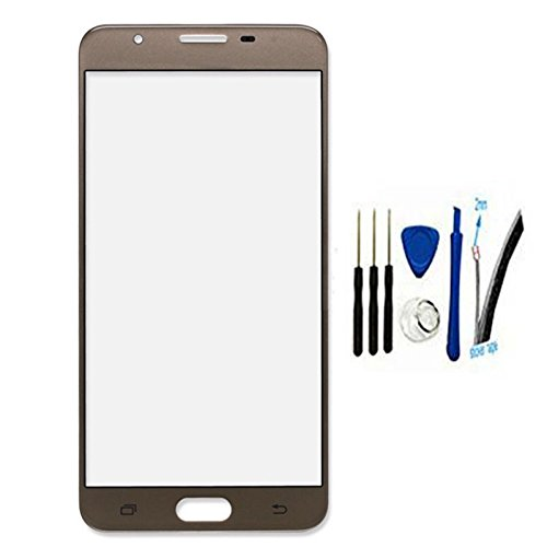 Front Screen Outer Glass top Panel Lens cover For Galaxy J7 Prime G610FD G610F G610K G610 & On7 2016 G6100 replacement US Version (gold)