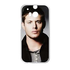 Jensen Ackles funda HTC One M8 caja funda del teléfono celular del teléfono celular blanco cubierta de la caja funda EVAXLKNBC23813