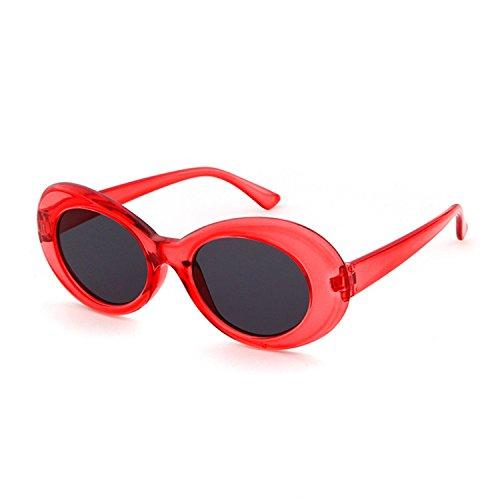 Clout Goggles Oval Mod Sunglasses Retro Kurt Cobain Glasses Transparent - Oval For Face Best Long Sunglasses