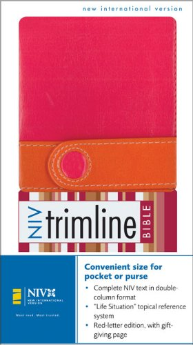 NIV Trimline Bible Limited Edition, Italian Duo Tone, Pink / Orange with Magnetic Closure ebook