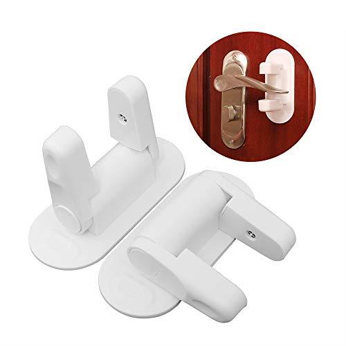 Door Lever Lock,Door Knob Safety Cover,Child Proof Doors & Handles,Lever Lock Door Handle Child Proof,2 ()