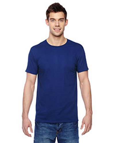 Fruit of the Loom Mens 4.7 oz. 100% Sofspun Cotton Jersey Crew T-Shirt(SF45R)-Admiral Blue-S (Fruit Of Loom Hoodie)