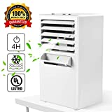 Citus Air Conditioner Fan, Desktop Small Personal Cooling Fan for Nearby Use up to 3Ft,Mini Space Air Cooler Misting Circulator Humidifier,w/Gift Box,2019 Upgraded,9.5-inch (White)