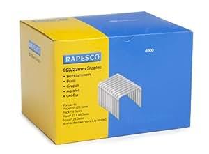 Rapesco - Grapas tipo 923 (alta resistencia, 23 mm, 4000 unidades)