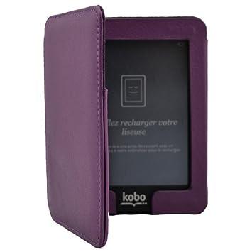 Magnético Cierre Cuero Funda de Piel Para eReader eBook Kobo Mini ...