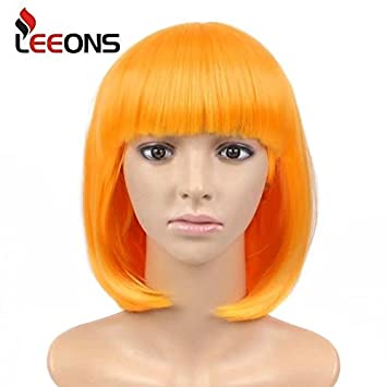 leeons wigs for women 12 short hair wig cosplay daily halloween costumes party wigs golden
