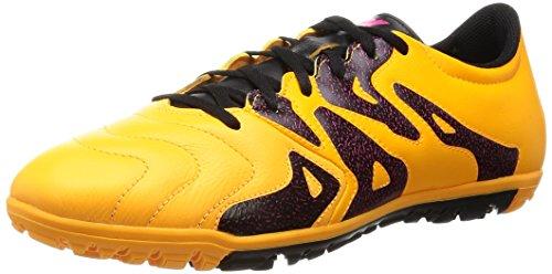 adidas Herren X 15.3 TF Leather Fußballschuhe Orange / Schwarz / Pink (Dorsol / Negbas / Rosimp)