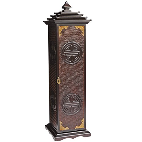 Oriental Furniture Rosewood Pagoda CD/DVD Stand (Cabinet Oriental Storage)