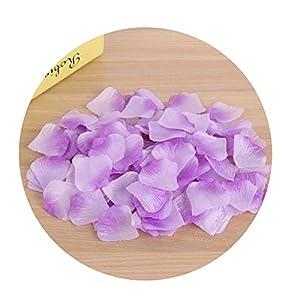 Sevem-D New Solid 1000Pcs Silk Rose Flower Petals Leaves Wedding Party Table Confetti Decorations Romantical,Light Purple 33