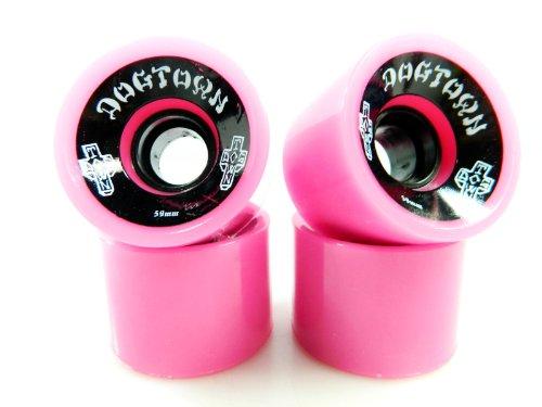 Dogtown 70's Skateboard Cruiser 59mm 84a Wheels (Neon Pink)