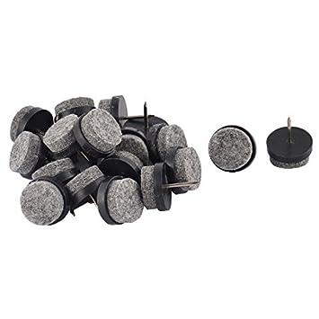 amazon de dealmux filz startseite wohnzimmer fussboden schutz mobel stuhl bein fuss nagel pad 20mm