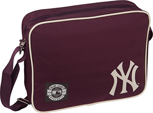 MLB NY New York Yankees Flight borsa a tracolla, colore: bordeaux