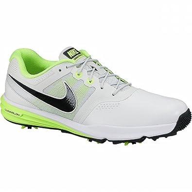 Nike Lunnar Command, Chaussures de Golf Homme, Argenté/Noir/Vert (Platine