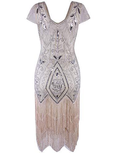 Vijiv Women's Short Flapper Dress 1920s Gatsby Vintage