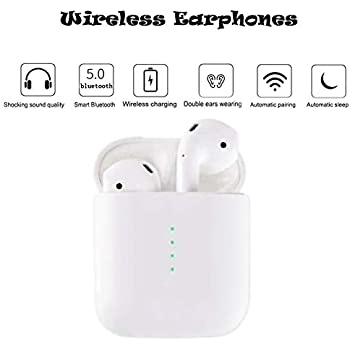 wealorwoe Bluetooth 5.0 Earbuds,i10 TWS Mini Wireless Bluetooth 5.0 Touch Earphone Earbuds with 3D Stereo Sound Built-in Mic Charging Box