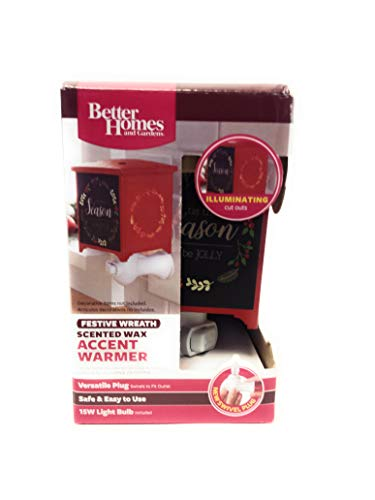 Better Homes Festive Wreath Christmas Holiday Plugin Metal Wax Warmer Fragrance