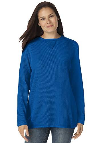Woman Within Women's Plus Size Thermal Sweatshirt