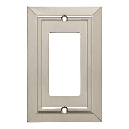 Franklin Brass W35219-SN-C Classic Architecture Decorator Wall Plate/Switch Plate/Cover, Single, Satin Nickel by Franklin Brass