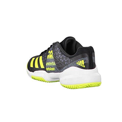 Adidas Counterblast Falcon J, Chaussures de Tennis Mixte Enfant, Noir (Negbas/Amasol/Ftwbla), 38 EU