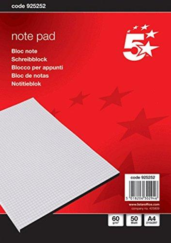 5Star 925252 A4 50fogli quaderno per scrivere