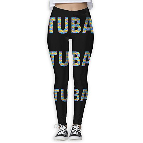 TUBA COLOR BLOCKS Women's Stretchable Sports Running Yoga Workout Leggings Pants XL