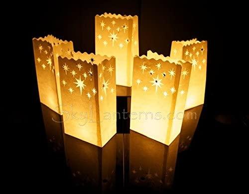 Pack de 30 bolsas de papel para poner velas en su interior ...