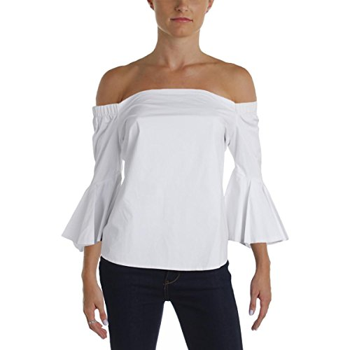 Endless Cascades (endless rose Womens Off-The-Shoulder Cascade Sleeve Casual Top White L)