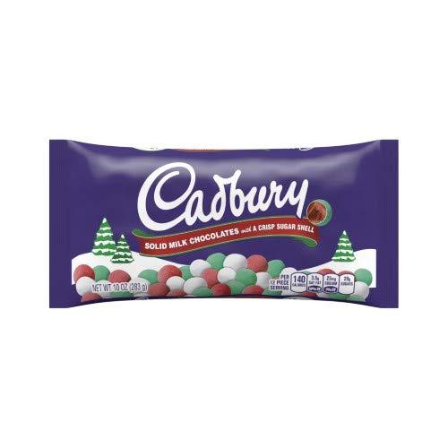 Cadbury Holiday Candy Coated Solid Milk Chocolates, 10-ounce (Pack of 6) (Christmas Mini Eggs Cadbury)