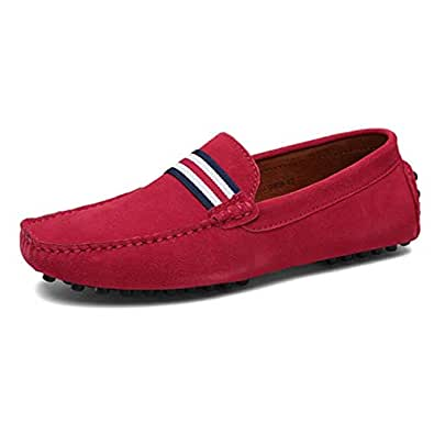Zapatos para Hombre Mocasines de Cuero de Gamuza Spring & Fall 2018 Slip on de conducción