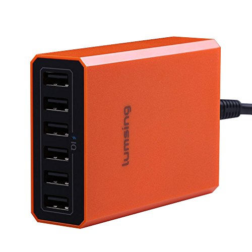 Lumsing 60W 5V 6-Port USB Desktop Charger for i...