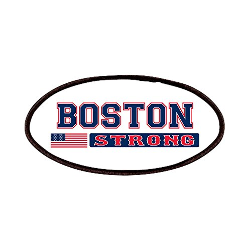 CafePress - BOSTON STRONG U.S. Flag Patches - Patch, 4x2in P