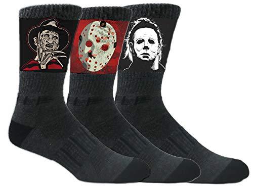 MOXY Socks Black Halloween Slasher Crew 3-Pack -