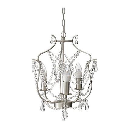 Amazon.com: Ikea Chandelier, 3-armed, silver color, glass 622.262914 ...