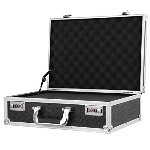 Aluminum Hard Lens Accessories Camera Case with Foam Pistol Gun Carrying Tool Boxes