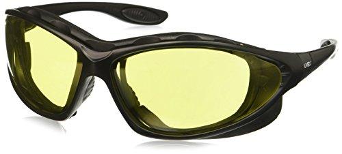 Uvex S0602X Seismic Safety Eyewear, Black Frame, Amber Uvextra Anti-Fog Lens/Headband