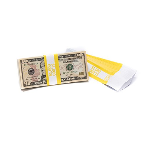 Barred ABA $1,000 Currency Band Bundles (500 Bands) (Currency 1000)