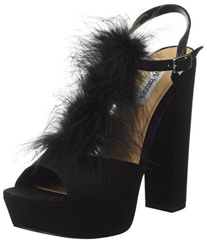 Steve Madden Tricia, Zapatos de Tacón con Punta Abierta para Mujer Negro (Nero)
