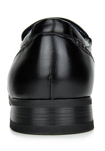 Bruno Marc Men's Gordon-02 Black Leather Lined Dress Loafers Slip On Shoes – 11 M US